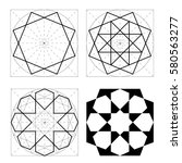 geometric shapes. stages of the ... | Shutterstock .eps vector #580563277