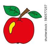 vector apple | Shutterstock .eps vector #580577257