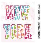 new york print   Shutterstock .eps vector #580585663