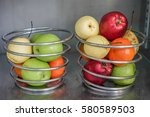 fresh colorful fruits. | Shutterstock . vector #580589503