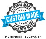 custom made. stamp. sticker.... | Shutterstock .eps vector #580593757