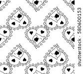 doodles cute seamless pattern.... | Shutterstock .eps vector #580600153