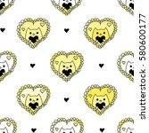 romantic seamless pattern.... | Shutterstock .eps vector #580600177