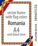 frame and border of ribbon with ... | Shutterstock .eps vector #580605133