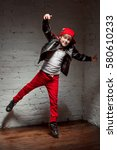 portrait of cool young hip hop...   Shutterstock . vector #580610233