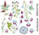 pattern nature. delicate... | Shutterstock .eps vector #580613743