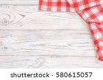Red Towel Over Wooden Kitchen...