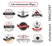 cafe and restaurant logos... | Shutterstock .eps vector #580621987