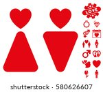 lovers icon with bonus amour...   Shutterstock .eps vector #580626607