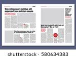graphical design newspaper... | Shutterstock .eps vector #580634383
