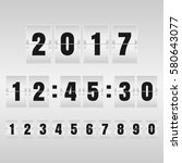 countdown timer and mechanical... | Shutterstock .eps vector #580643077