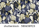 abstract  seamless vintage... | Shutterstock .eps vector #580658923