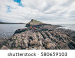girls hiking the worms head...   Shutterstock . vector #580659103