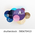 round modern circle option... | Shutterstock .eps vector #580670413