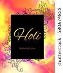 holi traditional indian ethnic...   Shutterstock .eps vector #580674823