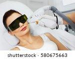 light hair removal. closeup of... | Shutterstock . vector #580675663