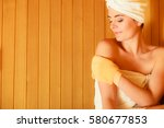 spa beauty treatment and... | Shutterstock . vector #580677853