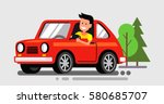 vector illustration of flat... | Shutterstock .eps vector #580685707