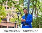 African American Businessman...
