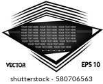 black and white rectangle on a... | Shutterstock .eps vector #580706563