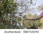a studio photo of a drone...   Shutterstock . vector #580710193