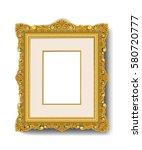 vintage gold picture frame  | Shutterstock .eps vector #580720777