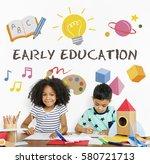 kids children early education... | Shutterstock . vector #580721713