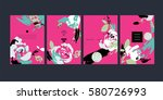 set of abstract creative... | Shutterstock .eps vector #580726993