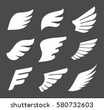 abstract vector wings... | Shutterstock .eps vector #580732603
