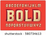 big bold extruded typeface with ... | Shutterstock .eps vector #580734613