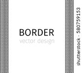 black vector border with... | Shutterstock .eps vector #580759153