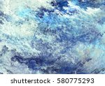 icy clouds. blue artistic... | Shutterstock . vector #580775293