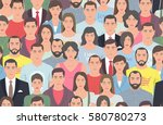 group of people seamless... | Shutterstock .eps vector #580780273