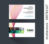 vector business card template... | Shutterstock .eps vector #580781167