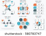 set with infographics. data and ... | Shutterstock .eps vector #580783747