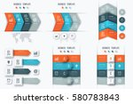 set with infographics. data and ... | Shutterstock .eps vector #580783843