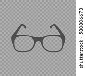 glasses vector icon. simple... | Shutterstock .eps vector #580806673