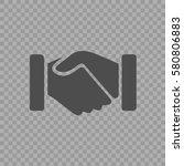 handshake vector icon eps 10.... | Shutterstock .eps vector #580806883