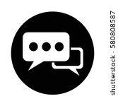 speech bubble icon | Shutterstock .eps vector #580808587