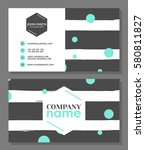 business card template.... | Shutterstock .eps vector #580811827