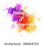 watercolor imitation splash... | Shutterstock .eps vector #580818703