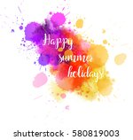 summer vacation abstract... | Shutterstock .eps vector #580819003