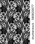 seamless black vector lace... | Shutterstock .eps vector #580820077