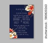 romantic wedding invitation... | Shutterstock .eps vector #580820263