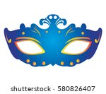 isolated carnival mask on a... | Shutterstock .eps vector #580826407