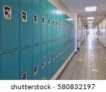 lockers at high school   Shutterstock . vector #580832197