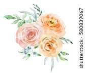 painted watercolor composition... | Shutterstock . vector #580839067