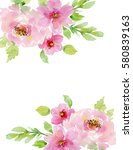 painted watercolor composition... | Shutterstock . vector #580839163