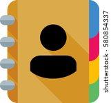 address book icon | Shutterstock .eps vector #580854337