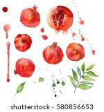 hand drawn watercolor painting... | Shutterstock . vector #580856653